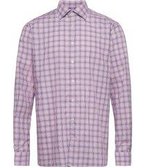 contemporary fit pink/red lightweight twill shirt skjorta casual rosa eton
