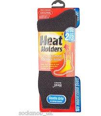 ladies heat holder thermal socks 4-8 uk 37-42, 5-9 us  charcoal grey