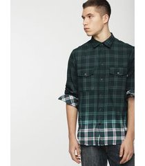 camisa masculina s-miller diesel verde