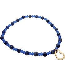 pulsera corazon lapis lazuli