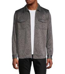 vintage 1946 men's reverse fleece shirt - grey - size l
