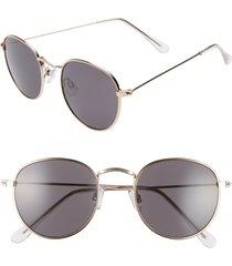 women's bp. 48mm round metal sunglasses - gold/ black