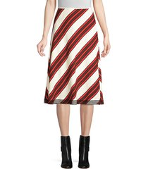 tory burch women's diagonal stripe-a-line skirt - maverick stripe - size 6