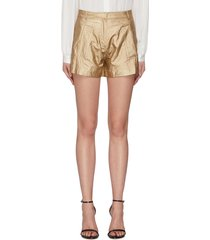 metallic mini shorts
