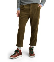 alex mill corduroy pleated pants, size 30 in olive at nordstrom