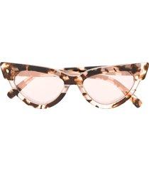 dsquared2 eyewear tortoiseshell-effect cat eye sunglasses - neutrals