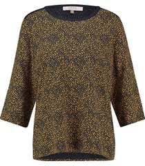 l.o.e.s. 20320 0269 loes eveline shirt gold/darkblue blauw
