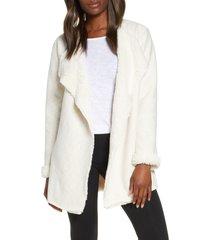 women's ugg abriana fleece lined cardigan, size x-large - ivory
