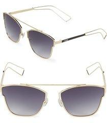 aqs women's emery aviator sunglasses - black gold
