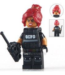 1 pcs barbara gordon with swat vest dc minifigures building blocks bricks toys