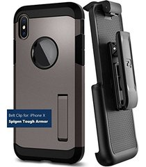 encased belt clip holster for spigen tough armor case - apple iphone x (case not