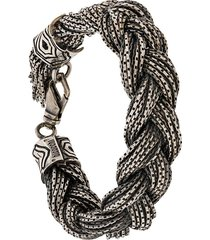 emanuele bicocchi oversized woven chain-link bracelet - silver