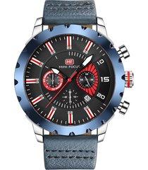 reloj análogo f0079g-1 hombre azul
