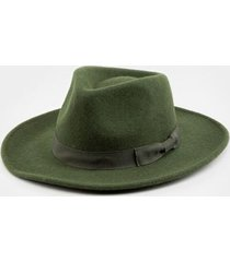 nina bow band wool panama hat - olive
