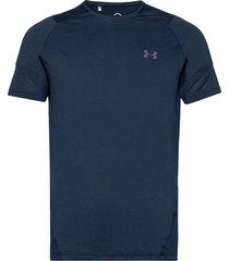 ua hg rush 2.0 ss t-shirts short-sleeved blå under armour