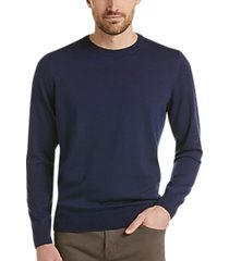 awearness kenneth cole awear-tech navy modern fit crewneck sweater