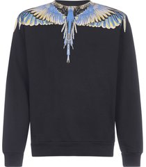 marcelo burlon wings cotton sweatshirt