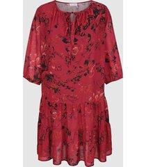 jurk sara lindholm rood::zwart