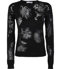 black cotton blend t-shirt