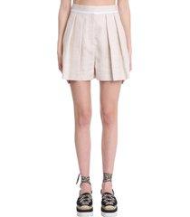 stella mccartney ariel shorts in beige triacetate