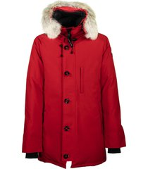 canada goose chateau parka red jacket