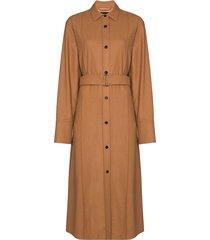 joseph dicha mid-length shirt dress - brown