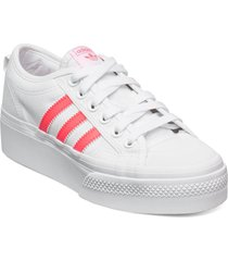 nizza platform w sneakers skor vit adidas originals