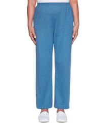alfred dunner all about ease french terry proportioned pants