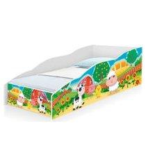 cama solteiro play fazendinha colorida casah