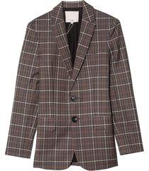 gabe menswear suiting blazer in grey multi