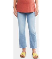 7 for all mankind maternity straight-leg jeans