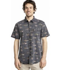 camisa bacalo gris stoked