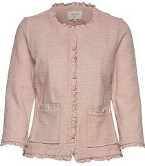 nellie cardigan blazer colbert roze cream