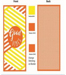 premium high performance large beach pool towel good vibes, yellow by minxny bedding