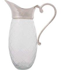 jarra decorativa de vidro com banho de prata mukah
