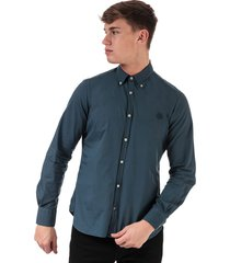 mens cotton popeline fitted shirt