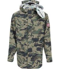 y/project camouflage canada goose rain jacket