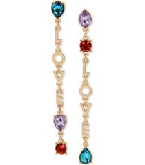 bcbgeneration crystal love mismatch linear drop earrings