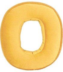 poduszka cyferka zero velvet żółta