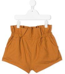 wolf & rita ruffled cotton shorts - yellow