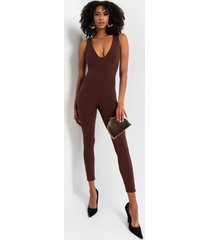 akira in the mood for chic luxe ribbed jumpsuit