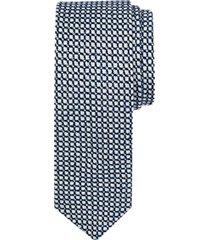 paisley & gray white & blue dot skinny tie