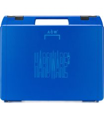 a-cold-wall* hardware logo utility case - blue