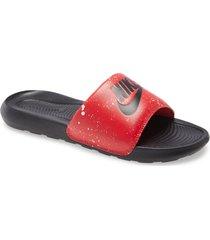 men's nike victori one sport slide, size 12 m - red