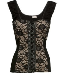 top stile corsetto (nero) - bodyflirt boutique