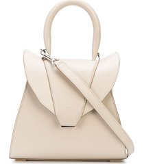elena ghisellini structured leather tote - neutrals