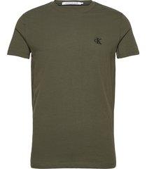 ck essential slim tee t-shirts short-sleeved grön calvin klein jeans