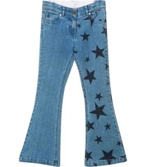 stella mccartney flared jeans with print