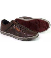 sapatenis couro tchwm shoes masculino elastico ziper lateral café