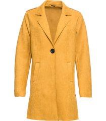 cappotto in similpelle scamosciata (giallo) - bodyflirt